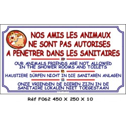 ANIMAUX INTERDIT DANS SANITAIRES 4L