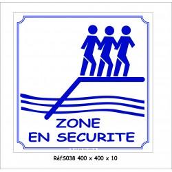 ZONE DE SÉCURITÉ 400 X 400 X 10