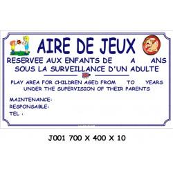 AIRE DE JEUX 2L - 700 X 400 X 10