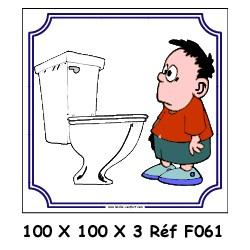 LOGO PORTE WC ENFANT - 100 X 100 X 3