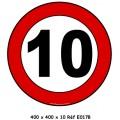 Panneau 10 km/h