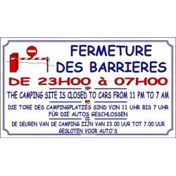 FERMETURE BARRIÈRE