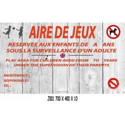 PANNEAU AIRE DE JEUX 2L - 700 X 400 X 10