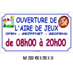 HEURE AIRE JEUX 4L - 450 X 250 X 10