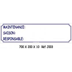 MAINTENANCE - 700 X 200 X 10
