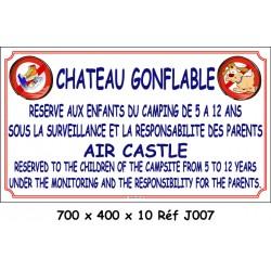 CHÂTEAU GONFLABLE 2L - 700 X 400 X 10