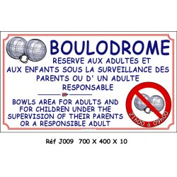 BOULODROME 2L - 700 X 400 X 10