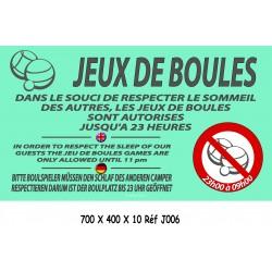 PANNEAU BOULES RESPECT SOMMEIL 3L - 700 X 400 X 10