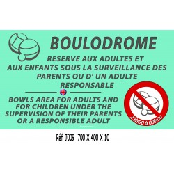 PANNEAU BOULODROME 2L - 700 X 400 X 10