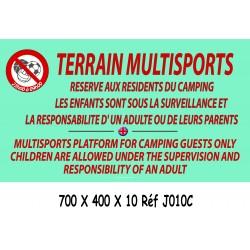 PANNEAU TERRAIN MULTISPORTS + HEURES 2L- 700 X 400 X 10