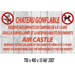 PANNEAU CHÂTEAU GONFLABLE 2L - 700 X 400 X 10