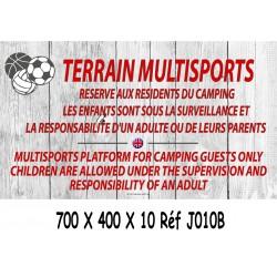 PANNEAU TERRAIN MULTISPORTS 2L- 700 X 400 X 10
