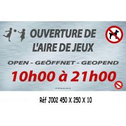 PANNEAU HEURE AIRE JEUX 4L - 450 X 250 X 10