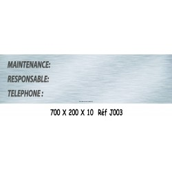 PANNEAU MAINTENANCE - 700 X 200 X 10