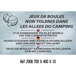 PANNEAU BOULES ALLÉES 4L - 700 X 400 X 10