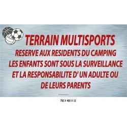 PANNEAU TERRAIN MULTISPORTS  - 700 X 400 X 10