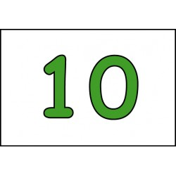 NUMÉRO EMPLACEMENT - 100 X 150 X 10