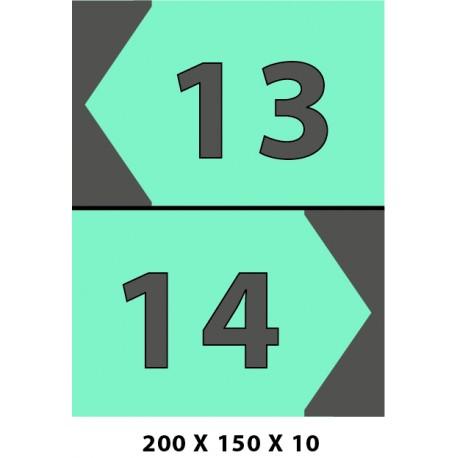 NUMÉRO EMPLACEMENT DOUBLE -200X150X10