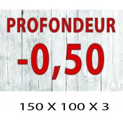 PLAQUETTE PROFONDEUR 100 X 150 X 3