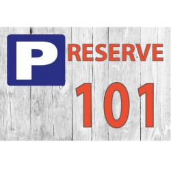 PLAQUETTE PARKING 150 X 100 X 10