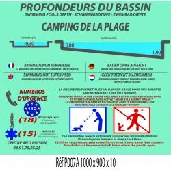 PANNEAU PROFONDEURS DES BASSINS GM - 1000 X 900 X 10