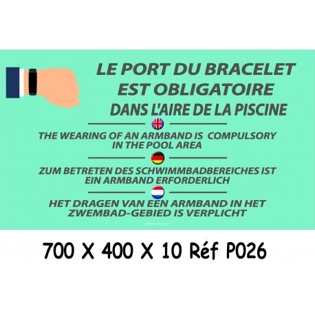 PANNEAU PORT BRACELET PISCINE 4L - 700 X 400 X 10