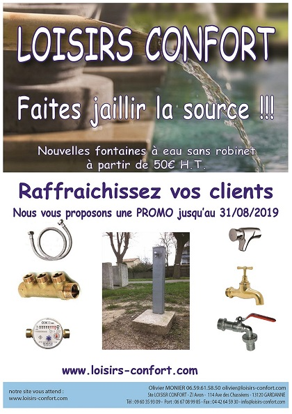 promo fontaine à eau